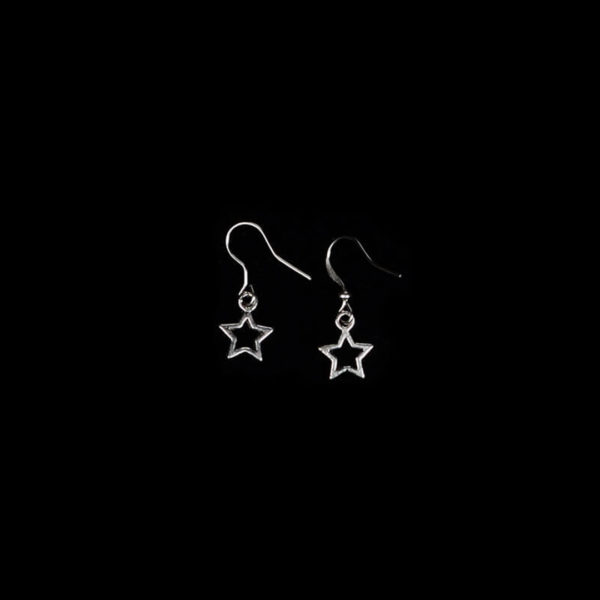 Wiccan Online Shop - 5 Pointed star earrings