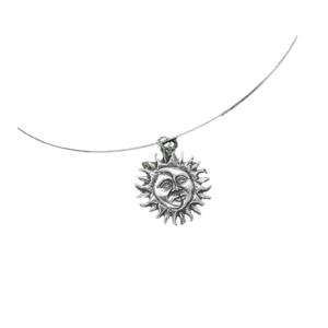 Sun & Moon Silver Round Necklace - Wiccan Online Shop