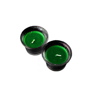 Green Candle with Glass Holder - Wiccan Online Shop