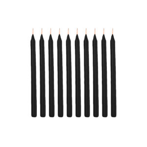 10 pcs Thin Black Candle - Wiccan Online Shop